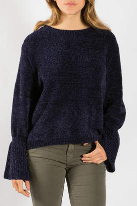 Elan International Boat Neck Bell Sleeve Sweater