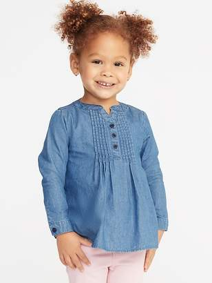 Old Navy Chambray Pintuck Tunic for Toddler Girls