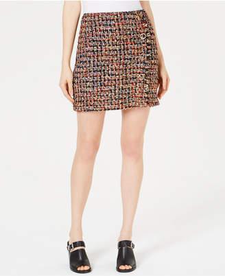J.o.a. Embellished Tweed Skirt