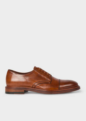 Paul Smith Men's Tan Leather 'Rosen' Derby Shoes