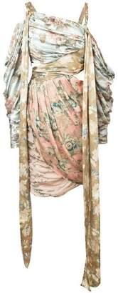 Zimmermann Zimmerman Draped Floral Print Dress