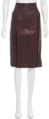 J. Mendel Textured Metallic Skirt