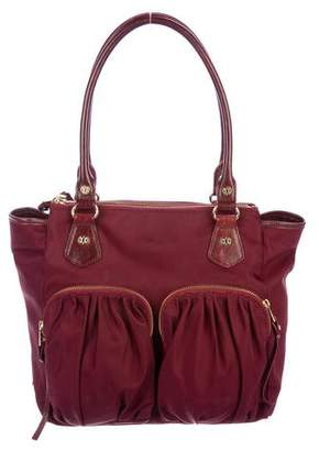 MZ Wallace Leather-Trimmed Nylon Multi-Pocket Bag
