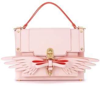 Niels Peeraer Wings Pink Leather Backpack