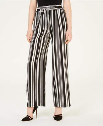 BCX Juniors' Striped Tie-Waist Pants