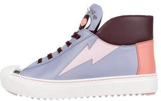 Fendi Monster Cap-Toe High Top Sneakers w/ Tags