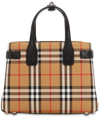 Burberry Small Banner Vintage Check Canvas Bag