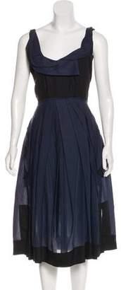 Donna Karan Pleated Midi Dress
