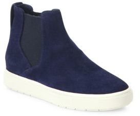 Vince Newlyn Suede High-Top Sneakers $295 thestylecure.com