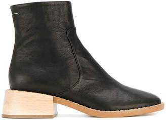 MM6 MAISON MARGIELA block heel ankle boots