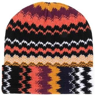 M Missoni zigzag pattern beanie