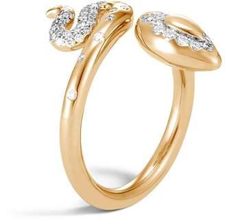 John Hardy 18K Yellow Gold Legends Cobra Diamond Wrap Ring - 100% Exclusive