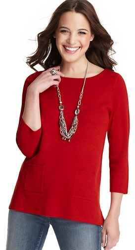 LOFT Patch Pocket Tunic Sweater