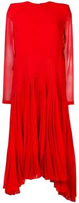 Givenchy silk pleated dress