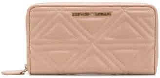 Emporio Armani logo quilted wallet