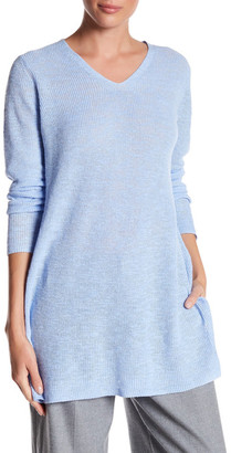 Eileen Fisher V-Neck Sweater $168 thestylecure.com