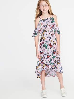 Old Navy Butterfly-Print Cold-Shoulder Midi for Girls