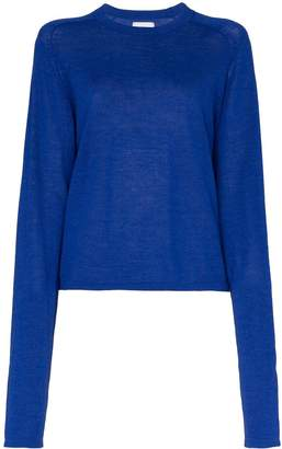 Carcel extended sleeve alpaca wool jumper
