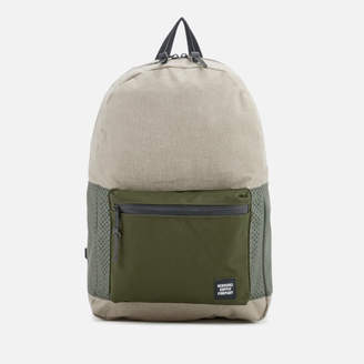 Herschel Men's Settlement Backpack - Light Khaki Crosshatch/Forest Night