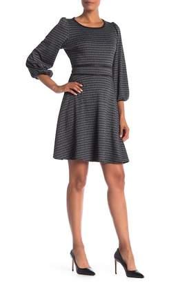 Max Studio Knit Jacquard Dress