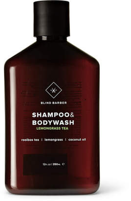 Blind Barber - Lemongrass Tea Shampoo & Bodywash, 350ml - Black