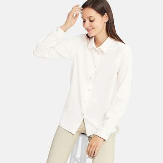 Uniqlo Women's Flannel Long Sleeve Shirt