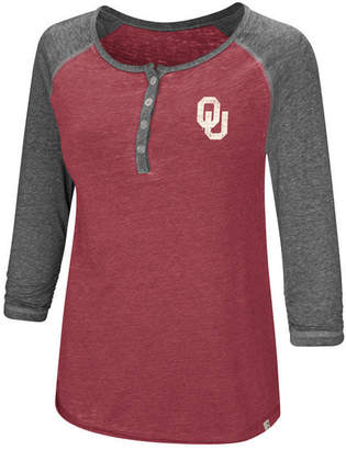 Colosseum Women Oklahoma Sooners Burnout Heather Henley T-Shirt