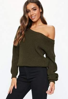 Missguided Off Shoulder Knitted Jumper