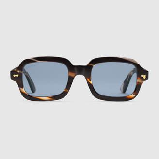 Gucci Rectangular-frame acetate glasses