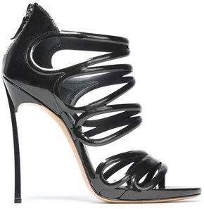 Casadei Metallic Patent-leather Sandals