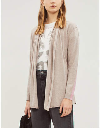 Zadig & Voltaire ZADIG&VOLTAIRE Rona gathered cotton and cashmere-blend waist-tie cardigan