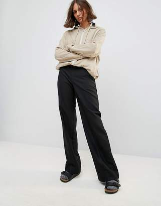Wood Wood Petra Relaxed Wide Leg Wool Blend Pants