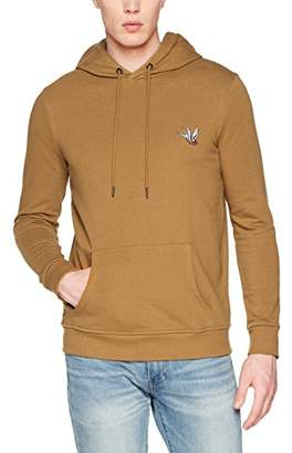 New Look Men's Swallow Embroidered Hoodie,(Manufacturer Size: 51)