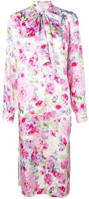 Saks Potts pussy bow floral dress