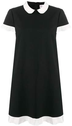 RED Valentino contrast trim shift dress