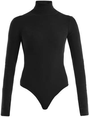 KHAITE Cate roll-neck ribbed-knit bodysuit