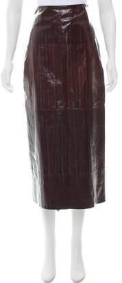 Rosetta Getty Eel Midi Skirt w/ Tags