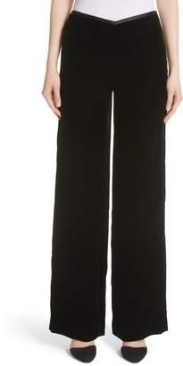 Emporio Armani Wide Leg Velvet Pants