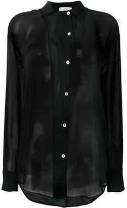 232a26e52e3d2 Sheer Black Collared Shirt - ShopStyle
