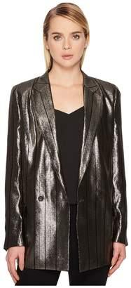 Paul Smith Metallic Long Boyfirend Jacket Women's Coat