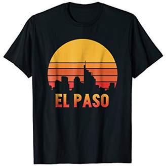 Throwback Retro 70s El Paso TX T-Shirt Vintage Sunset