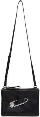 Versus Black Three-Pocket Safety Pin Bag
