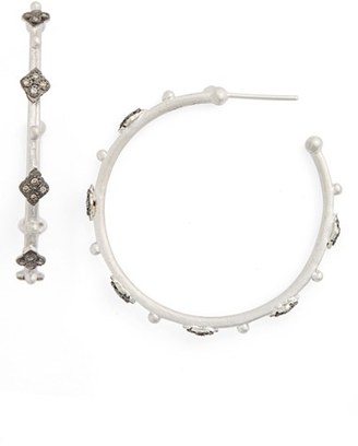 Women's Armenta New World Cravelli Diamond Hoop Earrings $790 thestylecure.com