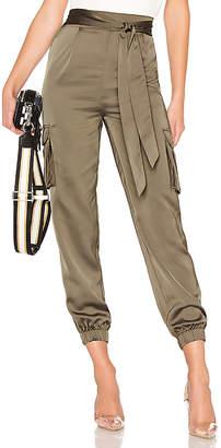 About Us Rachel Satin Cargo Pants