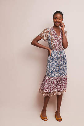 One September Desert Floral Midi Dress