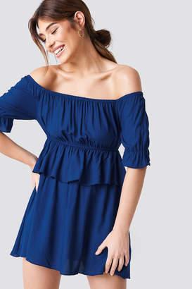 Debiflue X Na Kd Off Shoulder Frill Short Dress