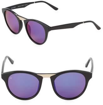 Smoke X Mirrors Black Betty 48MM Round Cat-Eye Sunglasses