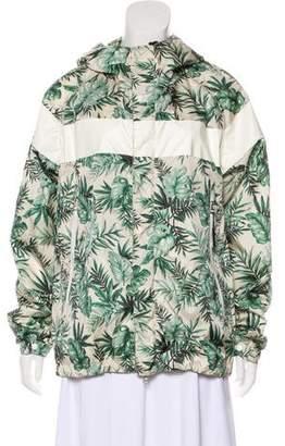 Moncler Printed Zip-Up Rain Coat w/ Tags