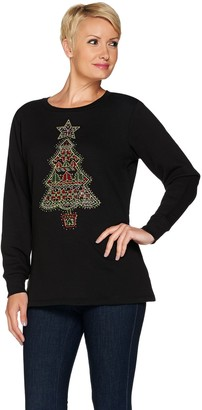 Factory Quacker Fair Isle Fun Holiday Fleece Top