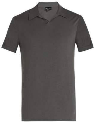 Giorgio Armani Jersey Polo Shirt - Mens - Dark Grey